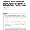 Embedding Health in Affordable Housing Development