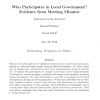 Who Participates in Local Government? Evidence from Meeting Minutes