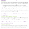 Fact Sheet on Legislation on Economic Mobility for Low Income Families & Coordinated Data and Assistance for Homeless Families (HD.2519/SD.910 & SD.1433)