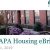 CHAPA's April 2019 Housing Briefs